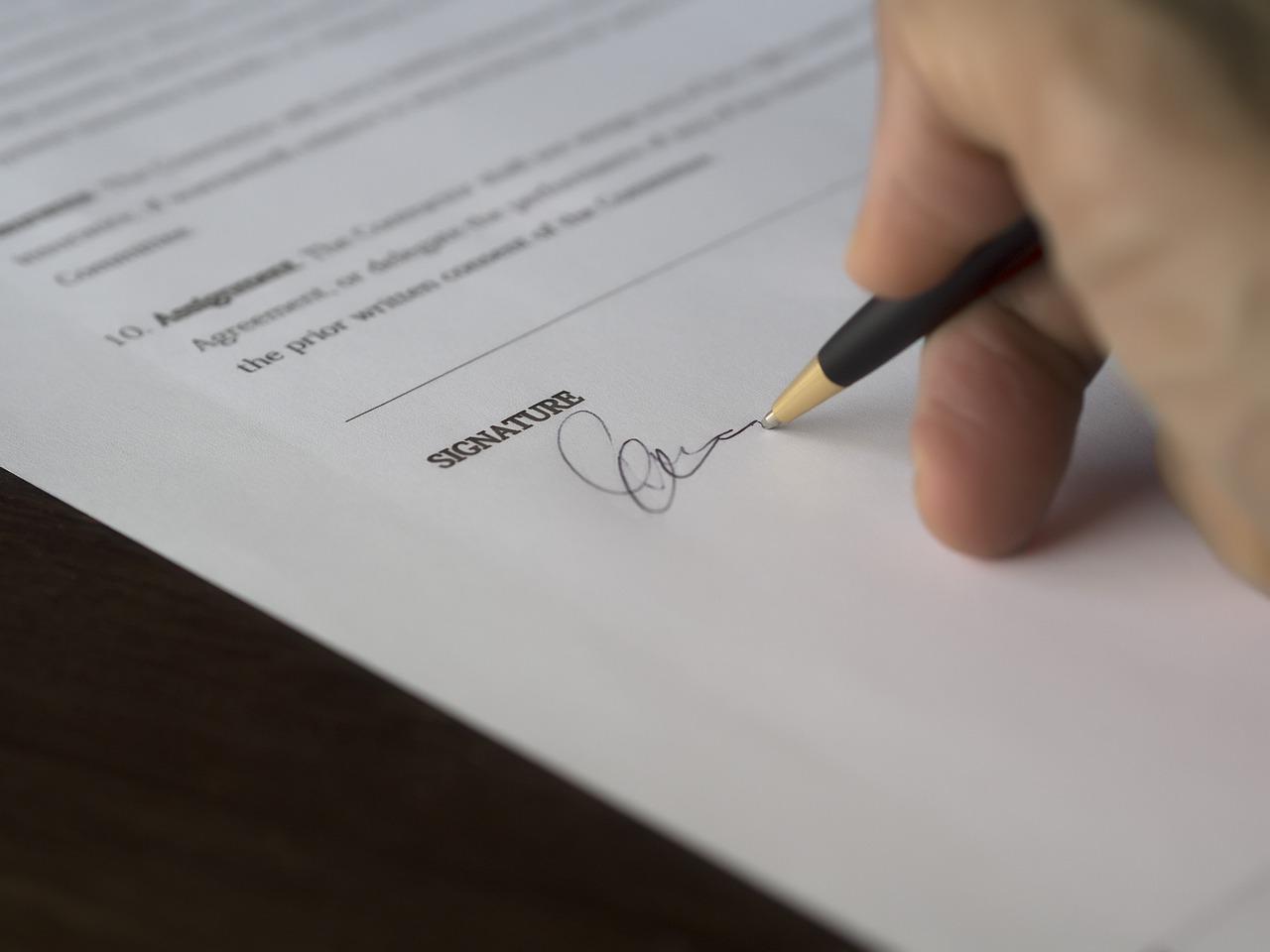 Podpis zmluvy o pôžičke 2018